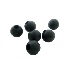 8mm Rubber Beads (1000) Black