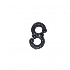 Figure of 8 Lead Clips (1000) - Black